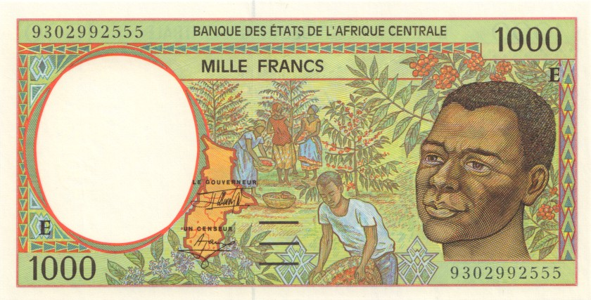 Central African States Cameroon P202Ea 1.000 Francs 1993 UNC