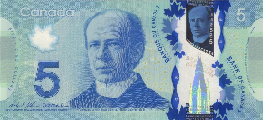 Canada P106d 5 Dollars 2013 UNC