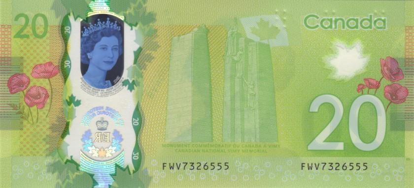 Canada P111 20 Dollars 2015 UNC
