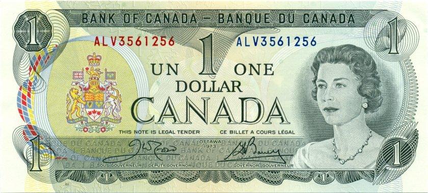 Canada P85c 1 Dollar 1973 UNC