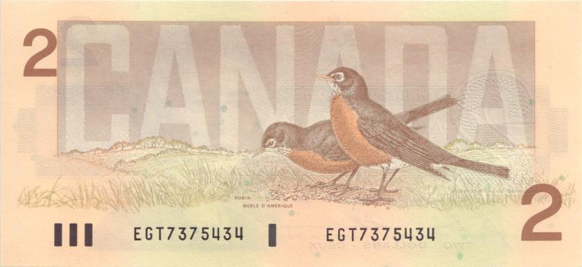Canada P94c 2 Dollars 1986 UNC