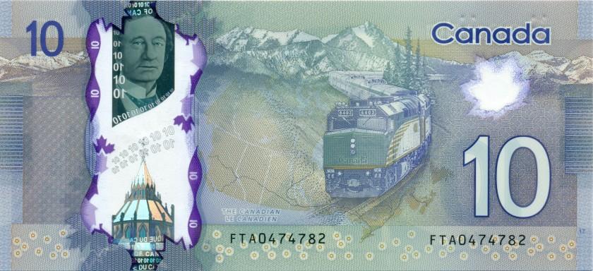 Canada P107a 10 Dollars 2013 UNC