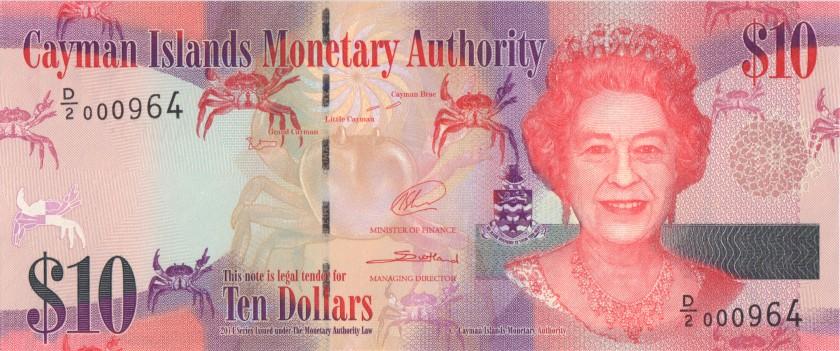 Cayman Islands P40 10 Dollars 2014 UNC