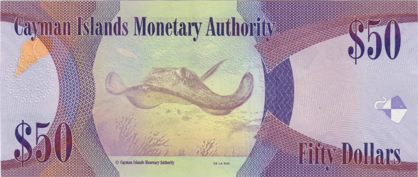 Cayman Islands P42 50 Dollars 2014 UNC