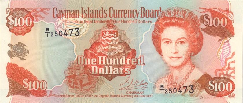 Cayman Islands P20 100 Dollars 1996 UNC