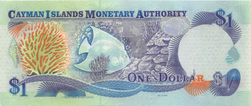 Cayman Islands P21a 1 Dollar 1998 UNC