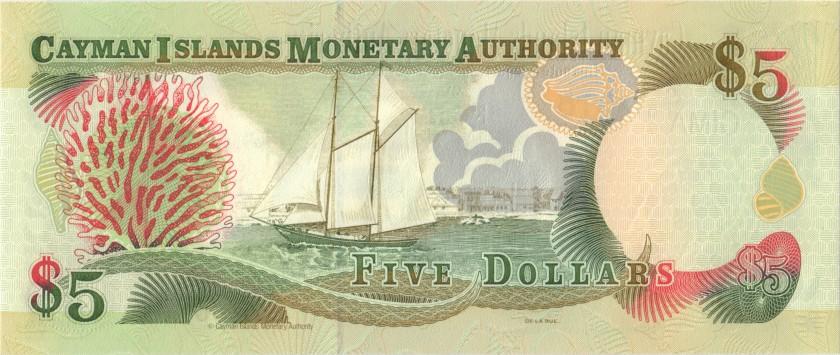 Cayman Islands P22 5 Dollars 1998 UNC