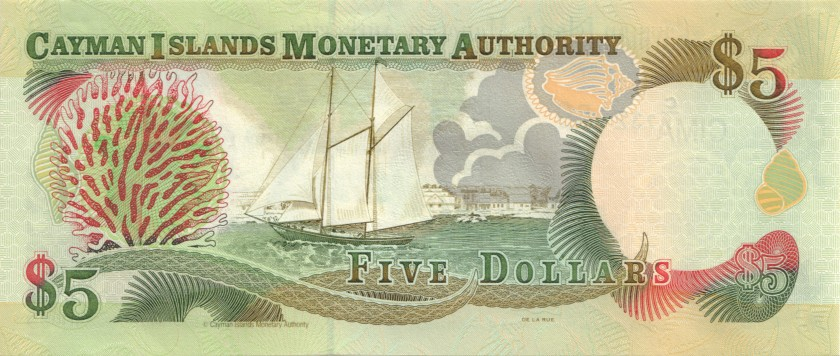 Cayman Islands P27 5 Dollars 2001 UNC