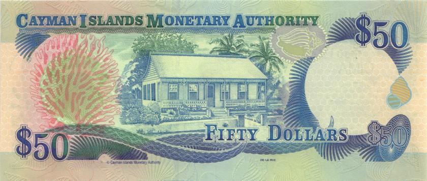 Cayman Islands P29 50 Dollars 2001 UNC