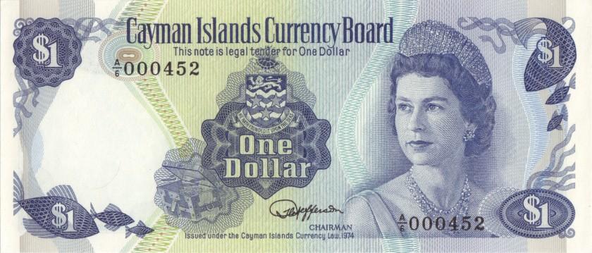 Cayman Islands P5e 000452 1 Dollar 1974 UNC-
