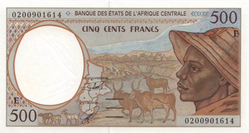 Central African States Cameroon P201Eh 500 Francs 2002 UNC