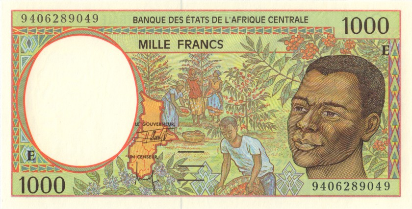Central African States Cameroon P202Eb 1.000 Francs 1994 UNC