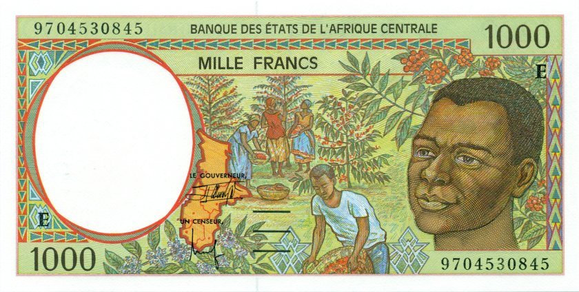 Central African States Cameroon P202Ed 1.000 Francs 1997 UNC