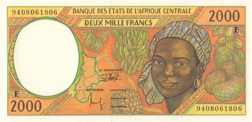 Central African States Cameroon P203Eb 2.000 Francs 1994 UNC