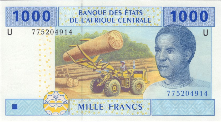 Central African States Cameroon P207Ue 1.000 Francs 2002 UNC