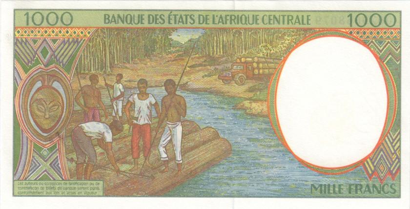 Central African States Congo Republic P102Cg 1.000 Francs 2000 UNC