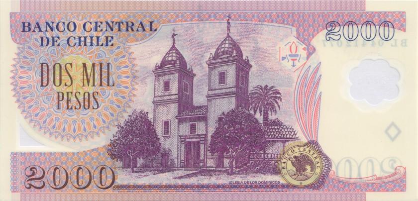 Chile P160a 2.000 Pesos 2004 UNC