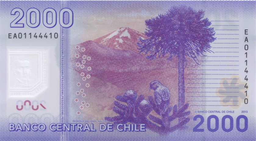 Chile P162c 2.000 Pesos 2013 UNC