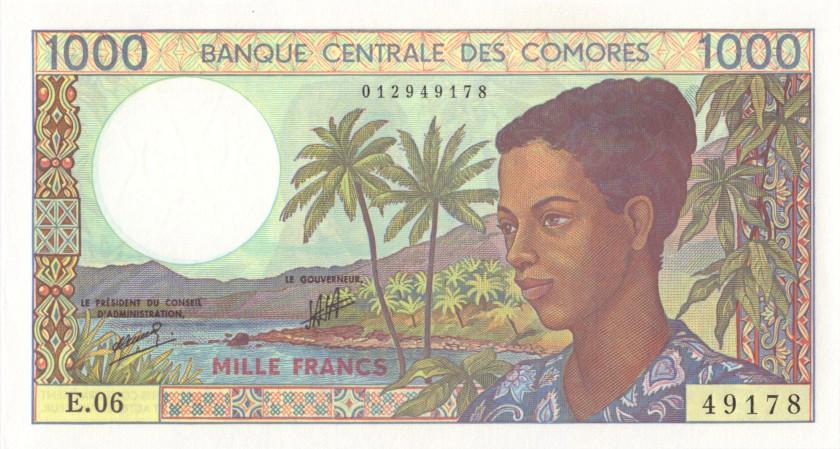 Comoros P11b(2) 1.000 Francs 1984 - 2004 UNC