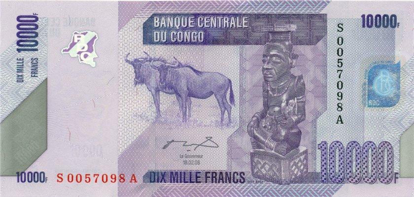 Congo Democratic Republic P103a 10.000 Francs 2012 (2006) UNC