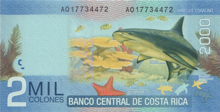 Costa Rica P275a 2.000 Colones 2009 UNC