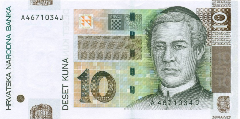 Croatia P38a 10 Kuna 2001 UNC