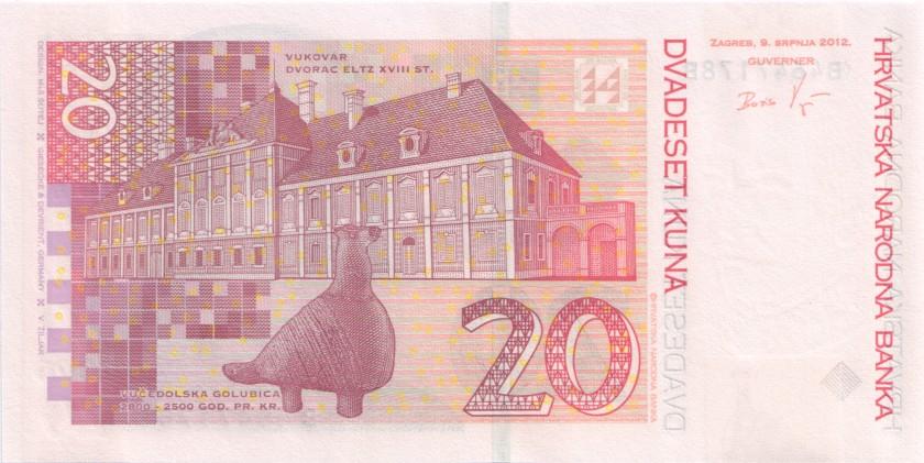 Croatia P39b 20 Kuna 2012 UNC