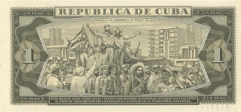 Cuba P102as SPECIMEN 1 Peso 1967 UNC
