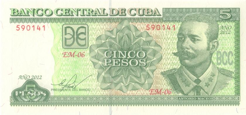 Cuba P116m 5 Pesos 2012 UNC