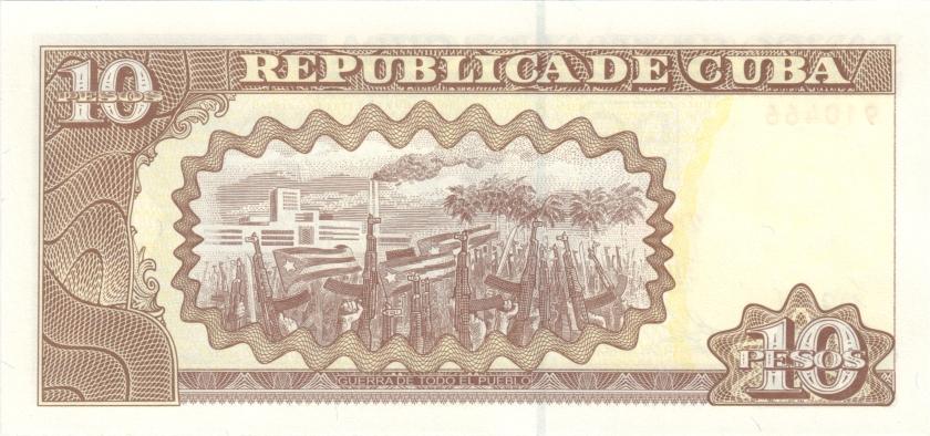 Cuba P117p 10 Pesos 2014 UNC