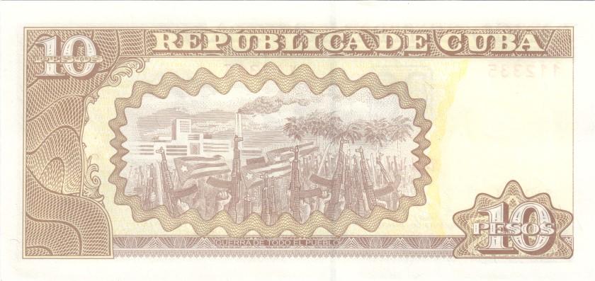 Cuba P117pr REPLACEMENT 10 Pesos 2014 UNC