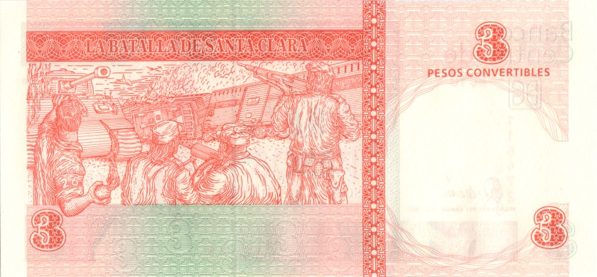 Cuba P-FX47 3 Pesos 2007 UNC