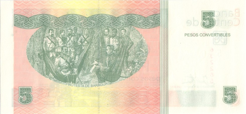 Cuba P-FX48 5 Pesos 2017 UNC