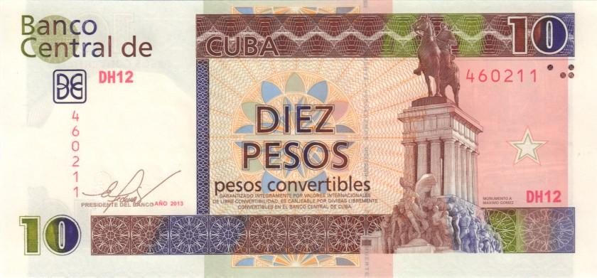 Cuba P-FX49 10 Pesos 2013 UNC