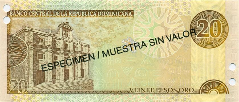Dominican Republic P168as, P169as, P171as 10, 20, 100 Pesos Oro 3 banknotes SPEC