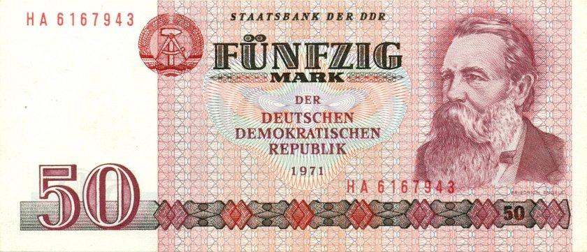 German Democratic Republic P30b 50 Mark 1971 UNC