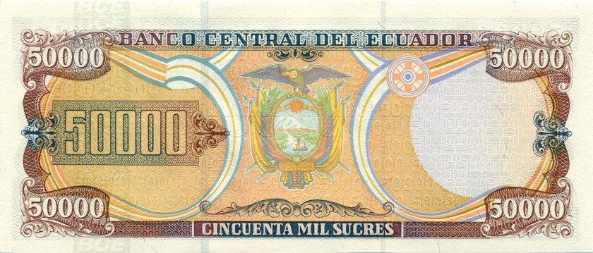 Ecuador P130a 50.000 Sucres 1997 UNC