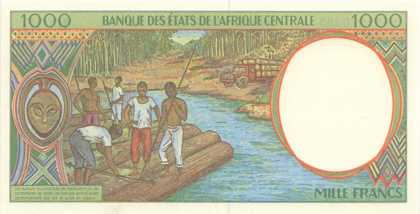 Central African States Equatorial Guinea P502Nb 1.000 Francs 1994 UNC