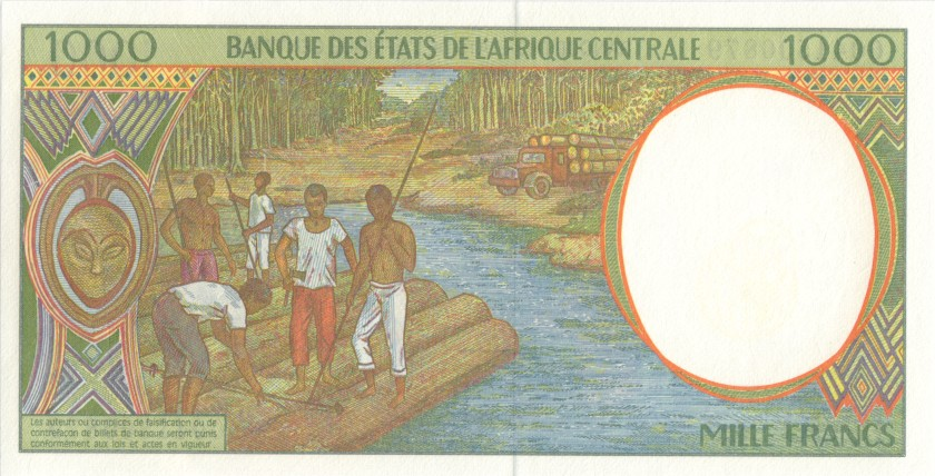 Central African States Equatorial Guinea P502Ng 1.000 Francs 2000 UNC
