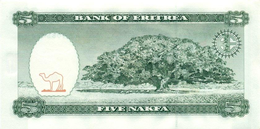 Eritrea P2 5 Nakfa 1997 UNC
