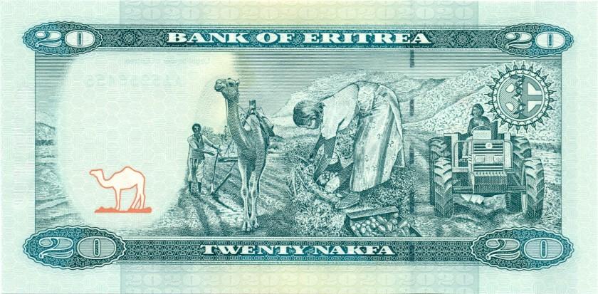 Eritrea P12 20 Nakfa 2012 UNC