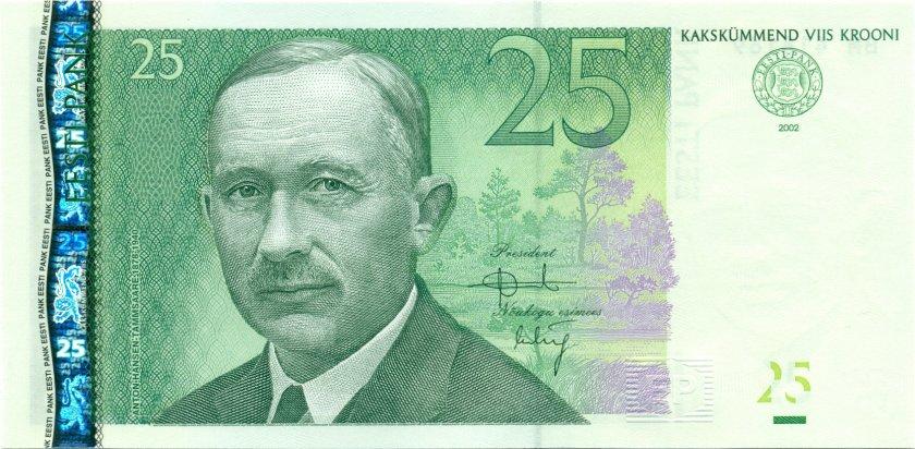 Estonia P84 25 Krooni 2002 UNC