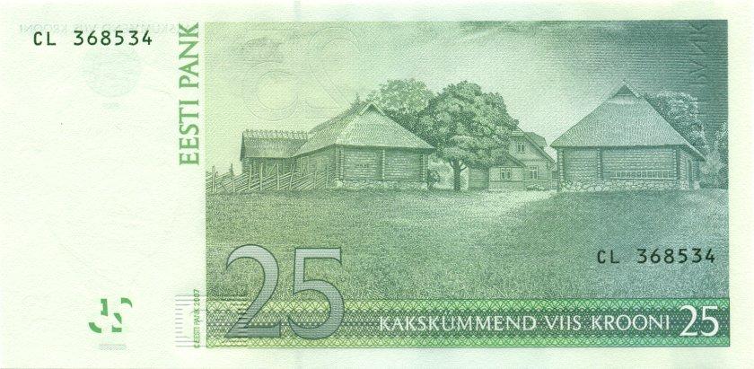 Estonia P87b 25 Krooni 2007 UNC