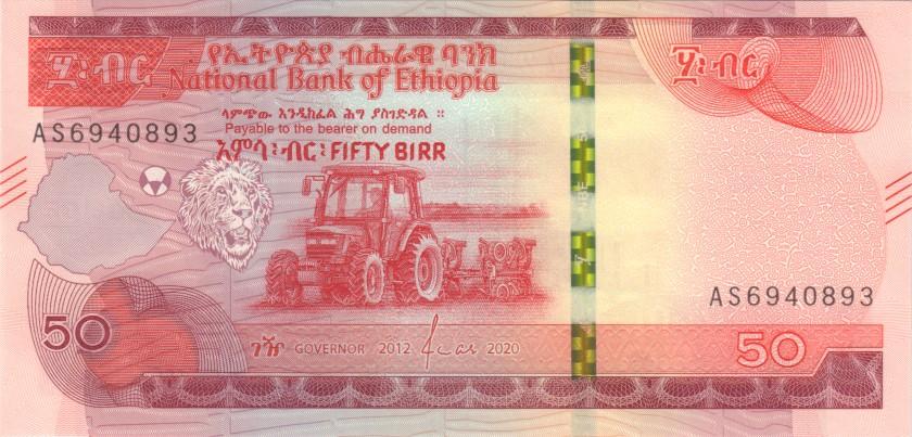 Ethiopia P-NEW 50 Birr 2020 UNC