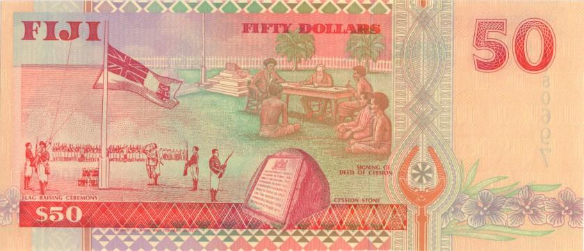 Fiji P100b 50 Dollars 1996 UNC