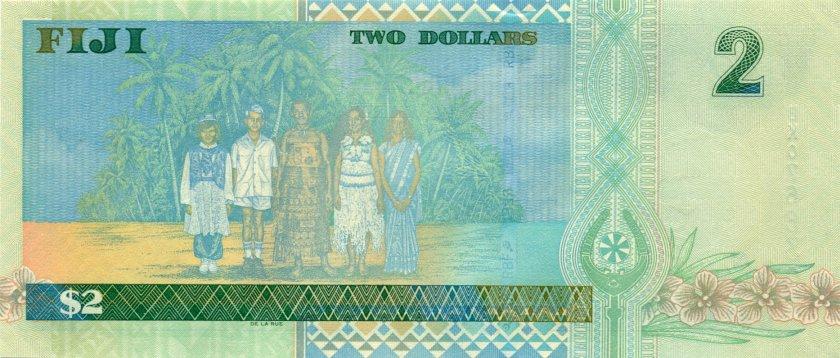 Fiji P104 2 Dollars 2002 UNC