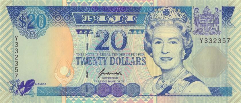 Fiji P99a 20 Dollars 1996 UNC