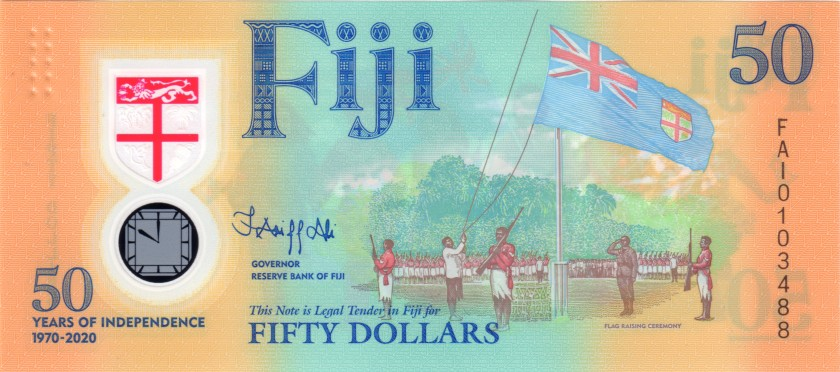 Fiji P-NEW 50 Dollars 2020 UNC
