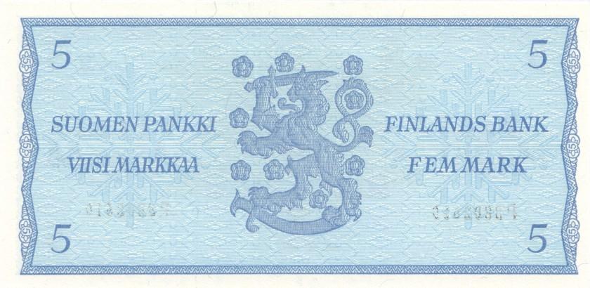 Finland P106Aa(25) 5 Mark 1963 UNC