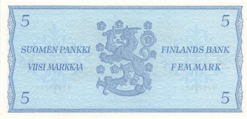Finland P106Aa(44) 5 Mark 1963 UNC